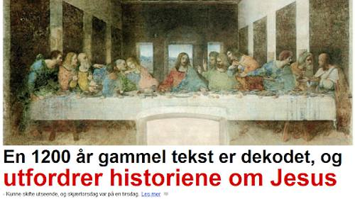Jesus - Dagbladet 170313